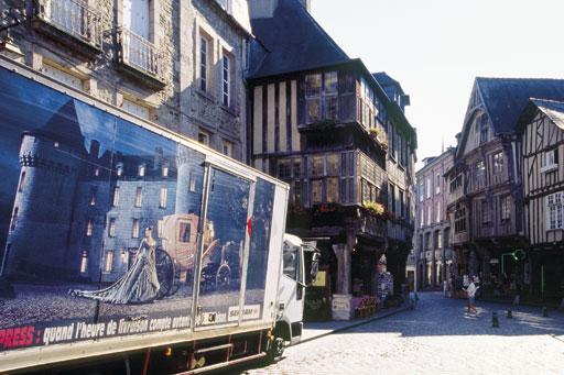 rue de l'apport à Dinan maisons anciennes