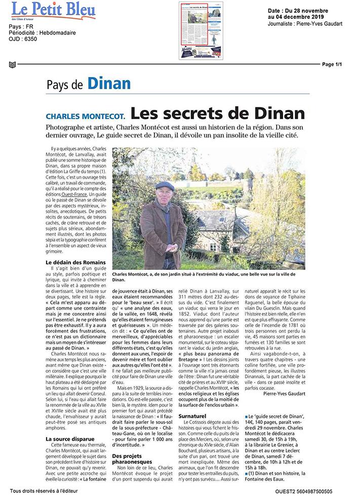 article du Petit bleu