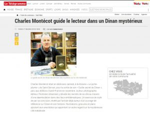 article du Télégramme guide secret de dinan charles montécot
